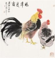 鸡年双吉 立轴 纸本设色 - 3961 - 中国当代书画 - 2010秋季艺术品拍卖会 -收藏网