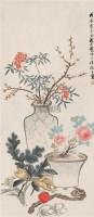 花果 立轴 纸本设色 - 张熊 - 中国古代书画  - 2010秋季艺术品拍卖会 -收藏网