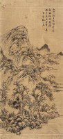 山水 镜心 纸本设色 - 张之万 - 中国古代书画  - 2010秋季艺术品拍卖会 -收藏网