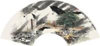 山水 扇片 纸本 - 杨延文 - 中国书画(上) - 2010瑞秋艺术品拍卖会 -收藏网