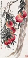 长寿图 立轴 纸本设色 - 齐良迟 - 中国书画(一) - 2010年秋季艺术品拍卖会 -收藏网