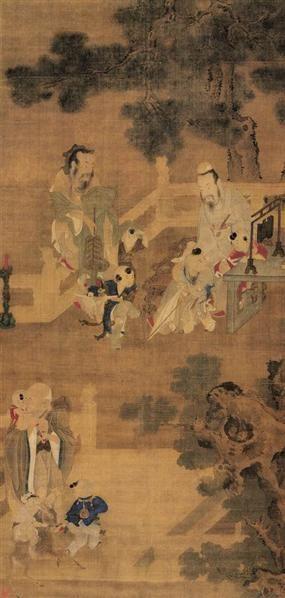 山水 设色纸轴 - 116070 - 古代作品专场 - 2005秋季大型艺术品拍卖会 -收藏网