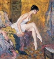 芭蕾情怀 布面 油画 - 邱瑞敏 - 中国油画 - 第54期书画精品拍卖会 -收藏网