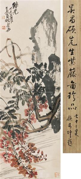 紫藤 立轴 纸本 - 116056 - 文物公司旧藏暨海外回流 - 2010秋季艺术品拍卖会 -收藏网