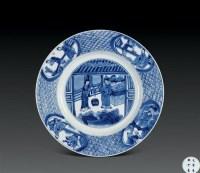 清康熙 青花人物盘 -  - 瓷器杂项 - 2006年夏季拍卖会 -中国收藏网