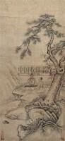 松下高士 立轴 设色纸本 - 50066 - 中国书画 - 第9期中国艺术品拍卖会 -收藏网