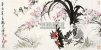 公鸡 镜片 设色纸本 - 陈大羽 - 国画 陶瓷 玉器 - 2010秋季艺术品拍卖会 -收藏网
