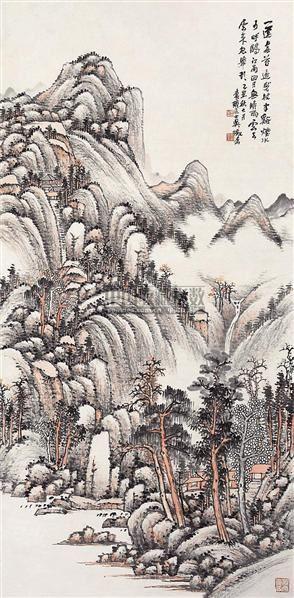 山水 立轴 设色纸本 -  - 中国书画 - 2006秋季书画艺术品拍卖会 -收藏网