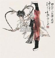 人物 立轴 纸本 - 颜梅华 - 中国书画(下) - 2010瑞秋艺术品拍卖会 -收藏网