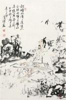 刘国辉 抚琴图 硬片 - 刘国辉 - 中国书画、油画 - 2006艺术精品拍卖会 -收藏网