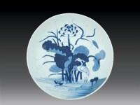 清·乾隆 青花一路连科盘 -  - 瓷玉珍玩 - 2006艺术精品拍卖会 -收藏网