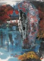 园林 立轴 设色纸本 - 杨延文 - 中国书画 - 第54期书画精品拍卖会 -中国收藏网