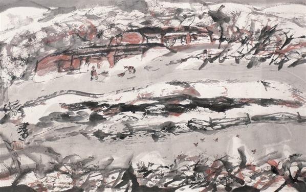 洪凌 无题 纸本水墨 - 133228 - (西画)当代艺术专题 - 2006年秋季精品拍卖会 -收藏网