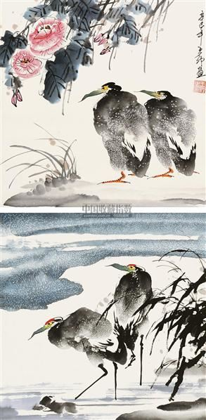 花鸟 立轴 设色纸本 - 5220 - 国画 陶瓷 玉器 - 2010秋季艺术品拍卖会 -收藏网