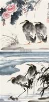 花鸟 立轴 设色纸本 - 5220 - 国画 陶瓷 玉器 - 2010秋季艺术品拍卖会 -中国收藏网