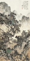 山水 立轴 设色纸本 - 袁松年 - 中国书画 - 2010年秋季拍卖会 -中国收藏网