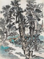 放牧图 软片 设色纸本 - 徐庶之 - 中国书画 - 2010秋季艺术品拍卖会 -收藏网