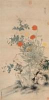 万寿恒春 立轴 纸本设色 - 钱维城 - 中国古代书画  - 2010秋季艺术品拍卖会 -收藏网