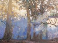 十月秋蒙 布面 油画 - 鲍加 - 中国油画 - 第54期书画精品拍卖会 -收藏网