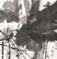 墨荷 立轴 水墨纸本 - 黄永玉 - 中国书画(二) - 2010年秋季艺术品拍卖会 -收藏网