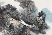 林间 镜片 设色纸本 - 赵振川 - 中国书画(一) - 2010年秋季艺术品拍卖会 -中国收藏网