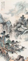 山水 立轴 设色纸本 -  - 中国书画 - 第9期中国艺术品拍卖会 -中国收藏网