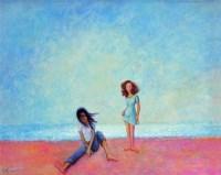 张 晖   沙滩女孩 -  - 名家西画 当代艺术专场 - 2008年秋季艺术品拍卖会 -中国收藏网