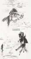 鱼藻图 立轴 纸本 - 黄胄 - 中国书画 - 2010年秋季书画专场拍卖会 -收藏网