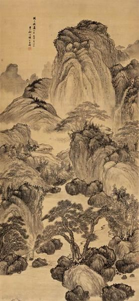 何维朴(1844~1922)  云山飞瀑图 - 6128 - 古代作品专场 - 2005秋季大型艺术品拍卖会 -收藏网