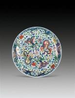 斗彩龙凤纹盘 -  - 瓷器 - 2010年秋季拍卖会 -收藏网