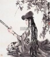 听琴图 - 黄胄 - 西泠印社部分社员作品 - 2006春季大型艺术品拍卖会 -收藏网