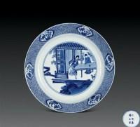 清康熙 青花人物盘 -  - 瓷器杂项 - 2006年夏季拍卖会 -收藏网