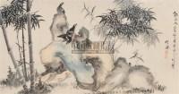 竹石八哥 镜心 纸本设色 - 竹禅 - 中国古代书画  - 2010秋季艺术品拍卖会 -收藏网