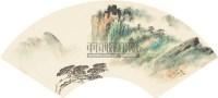 山水扇面 镜心 纸本设色 - 胡若思 - 中国近现代书画  - 2010秋季艺术品拍卖会 -收藏网