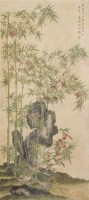 竹鹊图 立轴 绢本设色 - 沈铨 - 中国古代书画  - 2010秋季艺术品拍卖会 -收藏网