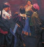 陈逸飞 2004年作 藏族少女 - 陈逸飞 - 西画雕塑(下) - 2006夏季大型艺术品拍卖会 -收藏网