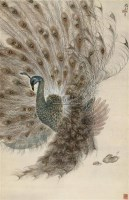 孔雀 开屏 设色纸本 - 高奇峰 - 中国书画一 - 2010秋季艺术品拍卖会 -收藏网