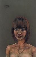 半裸的女人之一 素描 - 庞茂琨 - 油画专场  - 2010秋季艺术品拍卖会 -收藏网