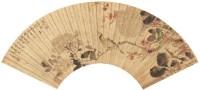 刘德六 花鸟 扇面 设色纸本 - 刘德六 - 古代书画专场 - 2006年秋季精品拍卖会 -收藏网