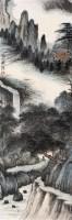 听瀑 立轴 设色纸本 - 118975 - 名家书画·油画专场 - 2006夏季书画艺术品拍卖会 -收藏网