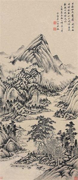 山水 立轴 纸本 - 116518 - 中国书画(下) - 2010瑞秋艺术品拍卖会 -收藏网