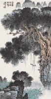 山水人物 立轴 设色纸本 - 124084 - 中国书画 - 2006秋季书画艺术品拍卖会 -收藏网