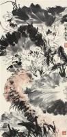 寿石双栖 镜片 设色纸本 - 许麟庐 - 中国近现代书画(一) - 2010秋季艺术品拍卖会 -收藏网