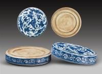 清•青花瓷硯 -  - 文房清玩 历代名砚专场 - 2008年春季拍卖会 -中国收藏网