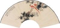 花鸟 扇片(镜框) 纸本 - 颜伯龙 - 中国书画(下) - 2010瑞秋艺术品拍卖会 -中国收藏网