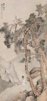 松壑鸣琴图 立轴 纸本设色 - 吴榖祥 - 中国古代书画  - 2010秋季艺术品拍卖会 -收藏网