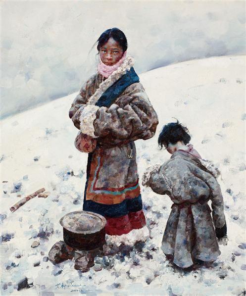 祈盼 - 6025 - 油画 - 2010年秋季拍卖会 -收藏网