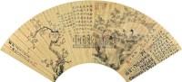 花卉人物合锦 (一件) 扇片 金笺 - 张熊 - 字画上午专场  - 2010年秋季大型艺术品拍卖会 -收藏网