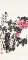 牡丹 纸本 立轴 - 何水法 - 中国书画(一)精品专场 - 天目迎春 -收藏网