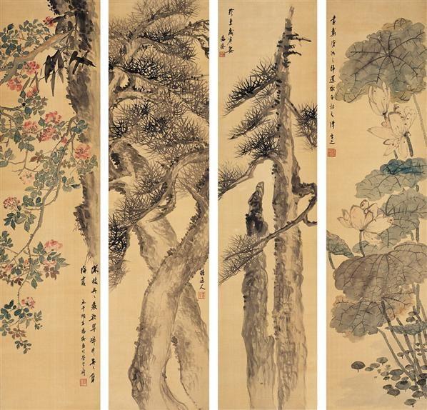 楼辛壶(1880~1950)  乔柯修篁图 -  - 中国书画海上画派作品 - 2005年首届大型拍卖会 -收藏网